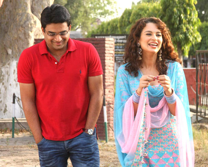 R. Madhavan And Kangna In A Still From Movie Tanu Weds Manu