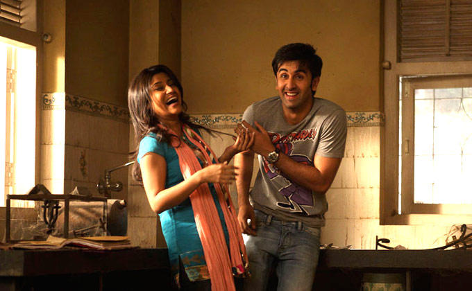 Ranbir Kapoor And Konkona Sen Sharma A Still From Wake Up Sid