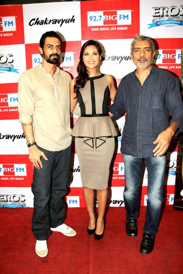 Arjun,Esha And Prakash At Chakravyuh Audio Launch On 92.7 FM