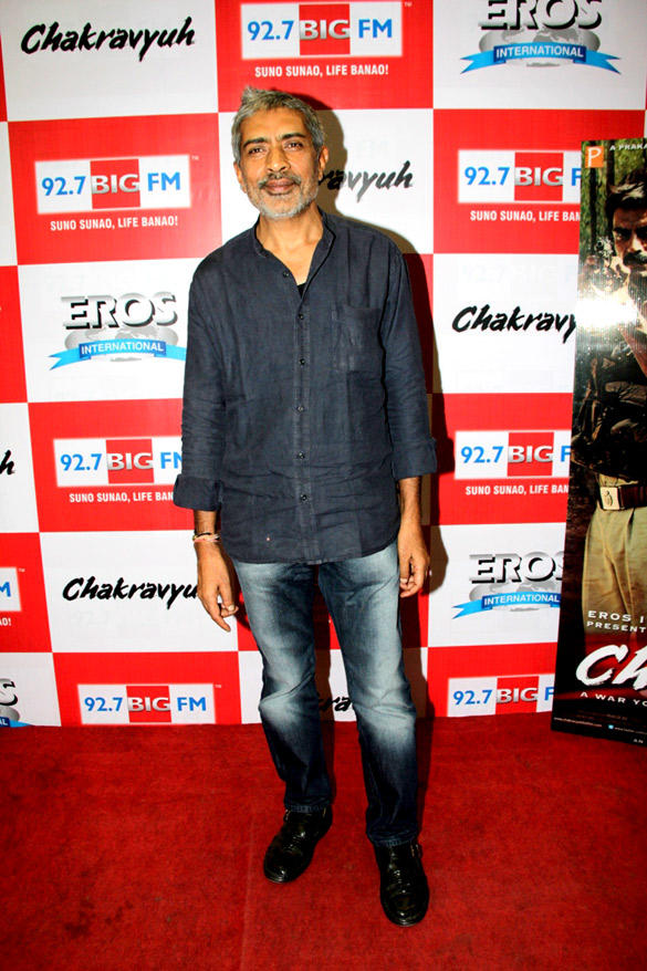 Prakash Jha At 92.7 FM For The Music Launch Of Chakravyuh