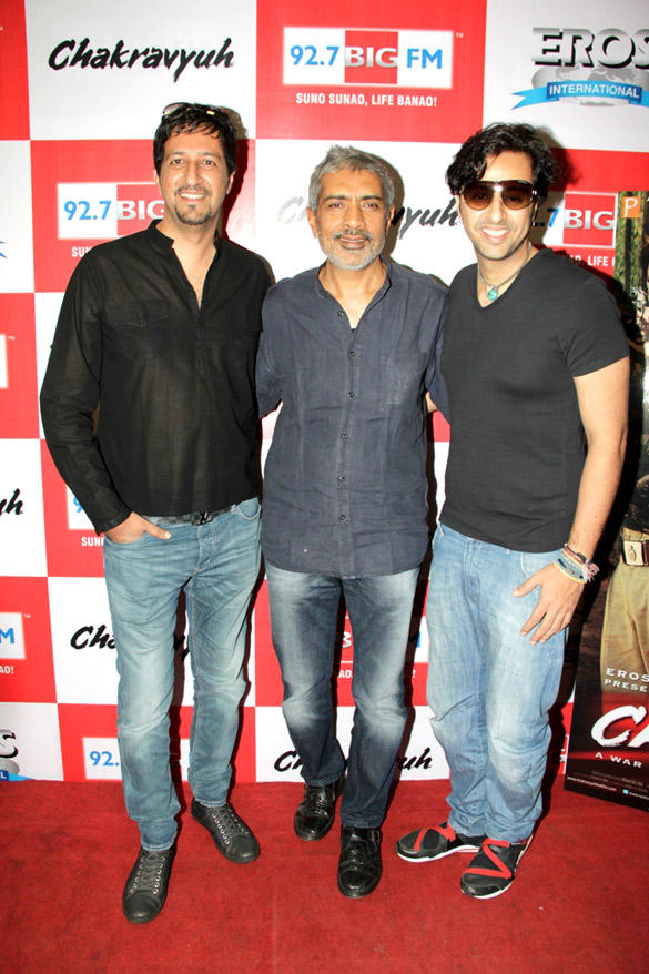 Sulaiman,Prakash And Salim At 92.7 FM For The Music Launch Of Chakravyuh
