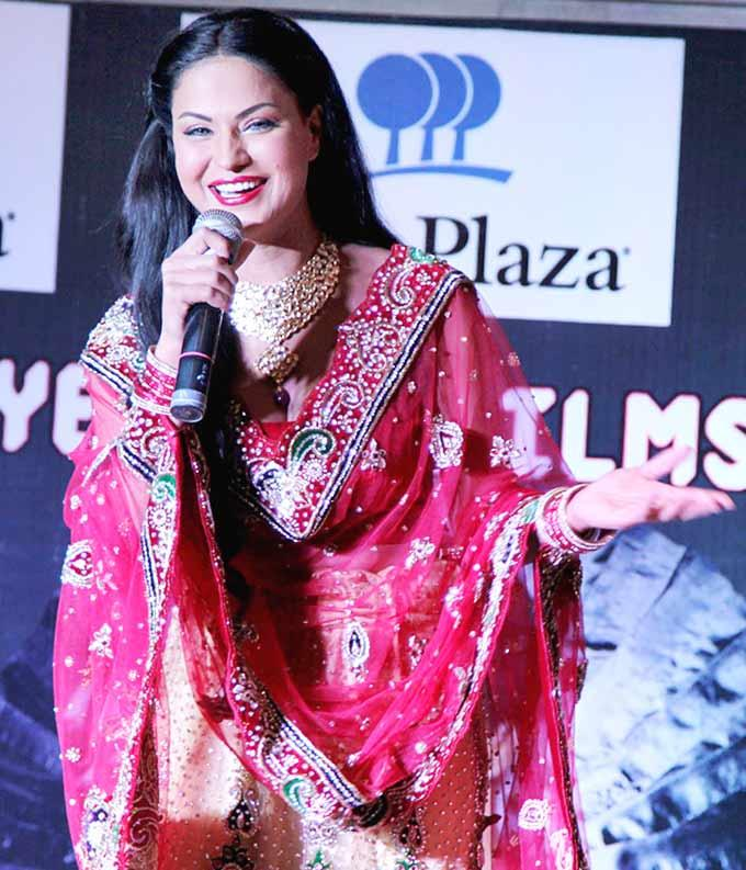 Veena Malik In Red Sexy Bridal Dress at Drama Queen Album Launch Event