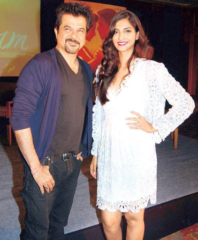 Anil And Sonam At Music Success Party Of Film Mausam
