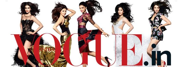 PC,Anushka,Deepika,Katrina and Sonam On The Cover of Vogue India's 5th Anniversary