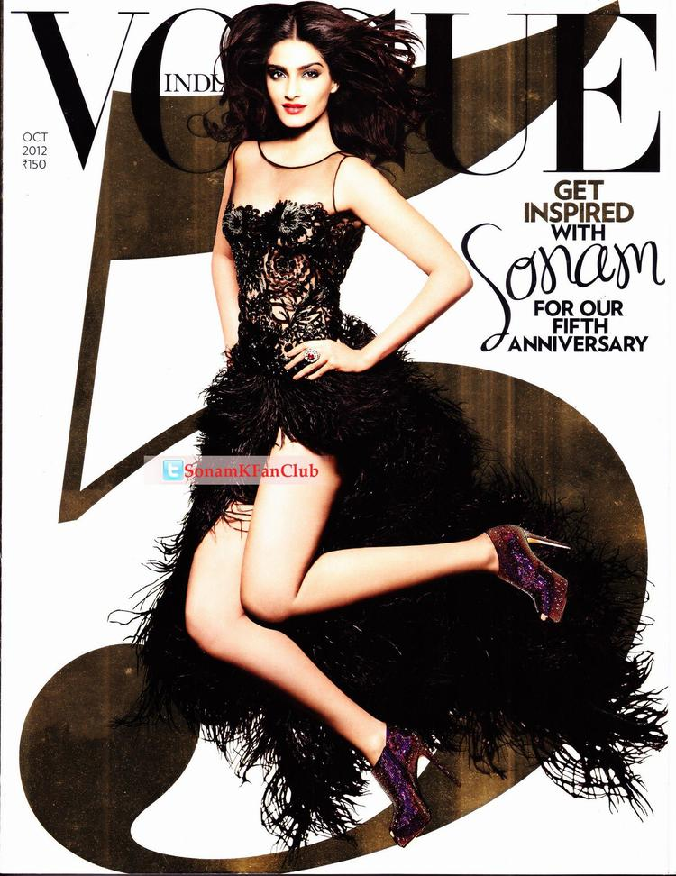 Sonam Kapoor On Vogue 5th Anniversary Cover