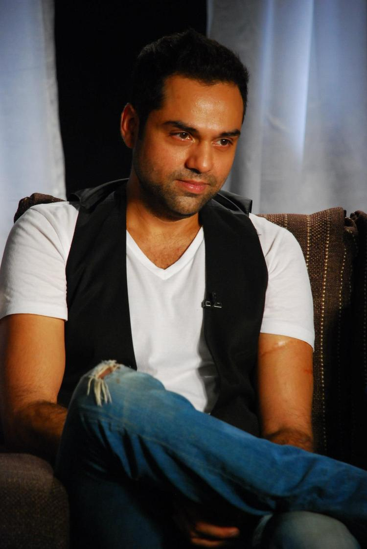 Abhay Deol During Chakravyuh Music Interview at Mehboob Studio