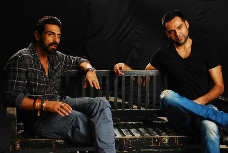 Arjun and Abhay During Chakravyuh Music Interview at Mehboob Studio