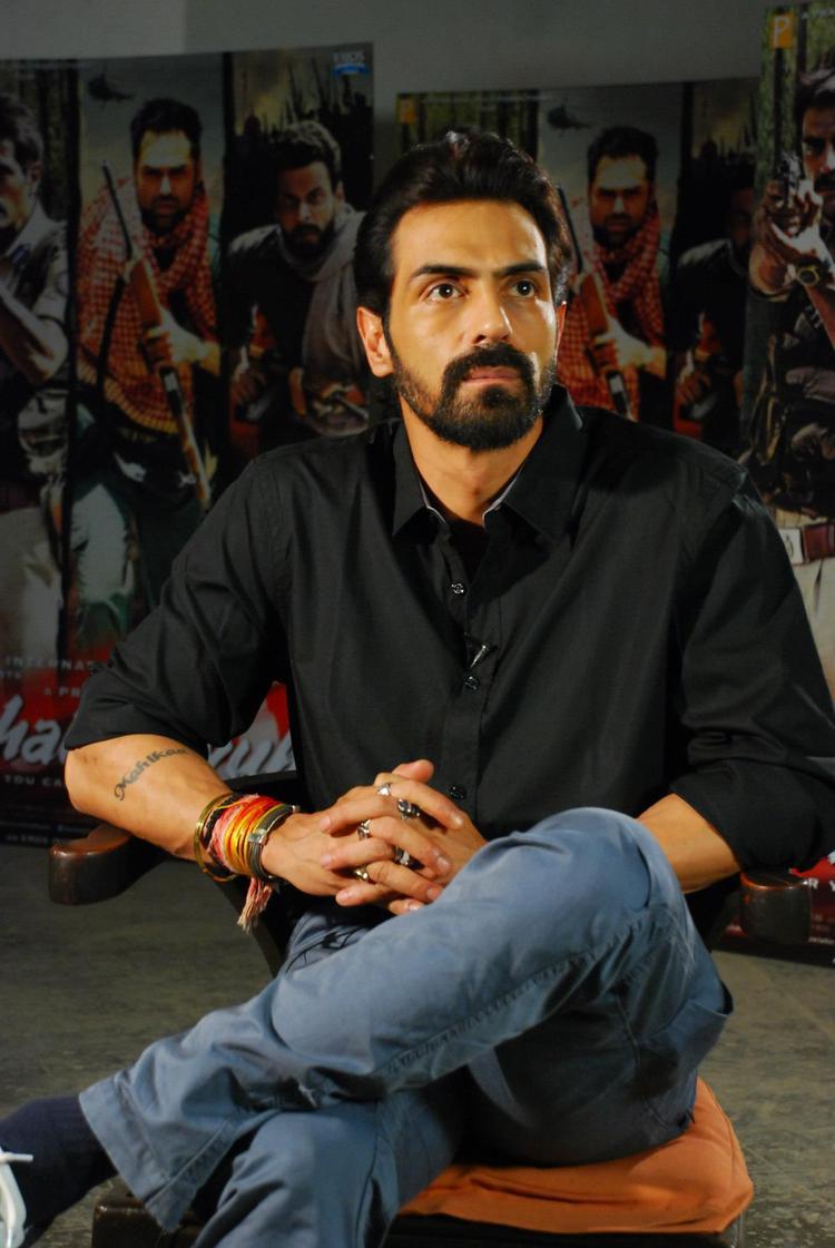 Arjun Rampal For Chakravyuh Music Interview at Mehboob Studio