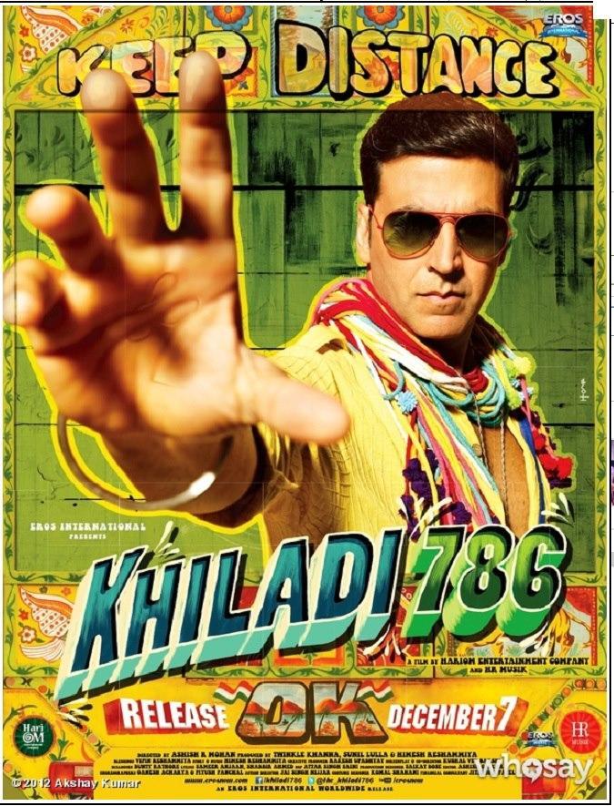 Bollywood Hindi Movie Khiladi 786 First Look Poster