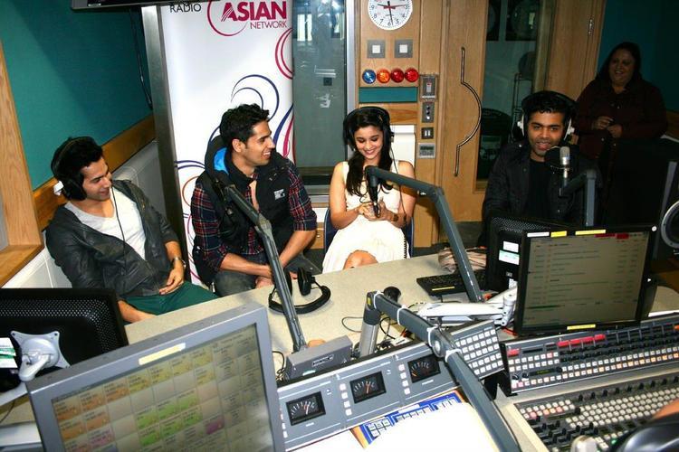 Karan,Siddharth,Varun And Alia Promo SOTY At Tommy Sandhus Breakfast Radio Show
