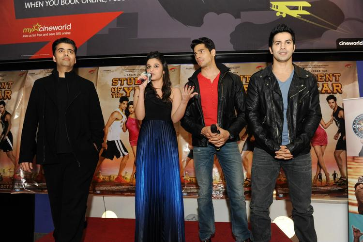Karan,Siddharth,Varun And Alia Snapped At London