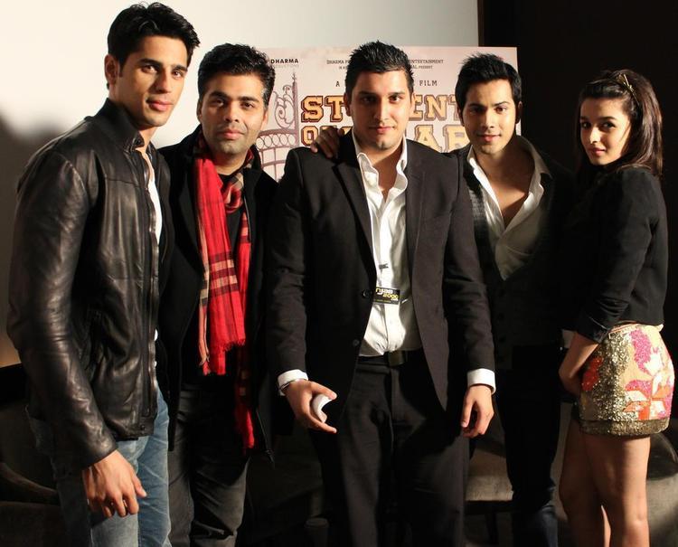 Karan,Siddharth,Varun And Alia Spotted At London