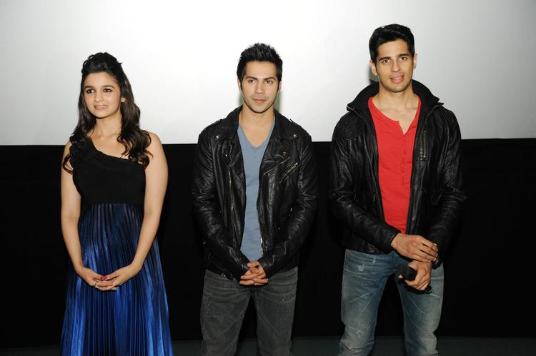 Siddharth,Alia And Varun Promoting Their Upcoming Movie SOTY In London