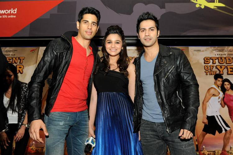 Siddharth,Varun And Alia Snapped At London For Promoting SOTY