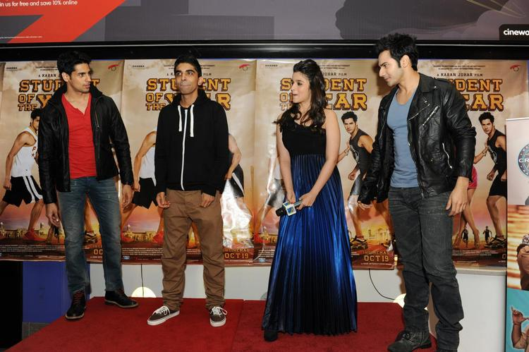The Team Of SOTY Spotted Promoting In London