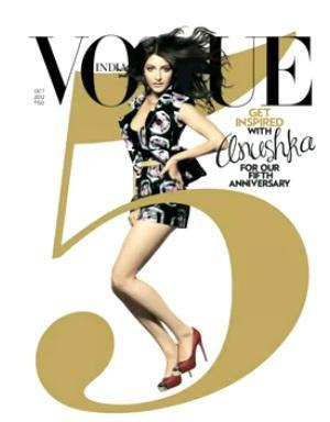 Anushka On Cover of Vogue's India 5th Anniversary Issue October 2012