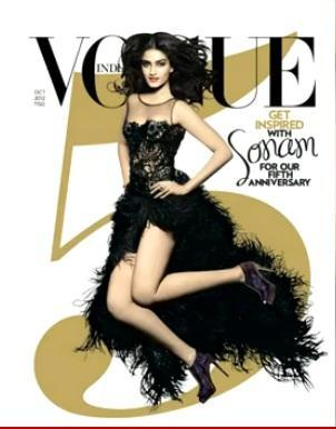 Hottie Sonam Kapoor On Cover of Vogue's India 5th Anniversary Issue