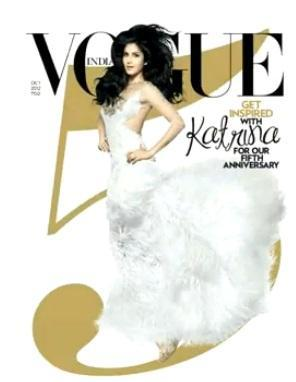 Sizzling Katrina Kaif On Cover of Vogue's India 5th Anniversary Issue