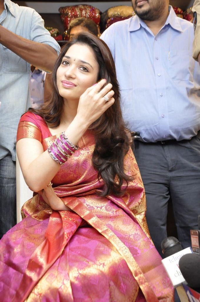 Beautiful Tamanna Gorgeous Silk Saree Still At Womens World Showroom