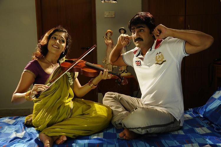 Meka Srikanth and Meghana Cute Sweet Still In Lucky Movie