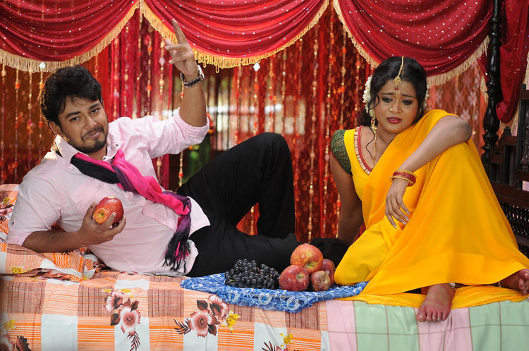 Tanish And Sana Latest Pic From Their Upcoming Movie Devdas Style Marchadu