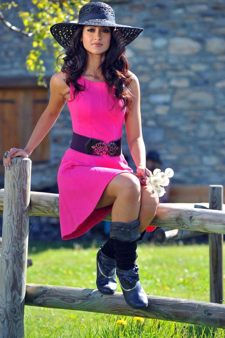 Ileana Latest Stills In Pink Dress