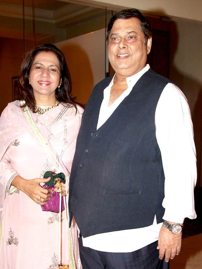 David And Wife Karuna At Shashi And Anu Ranjans 25th Anniversary Bash