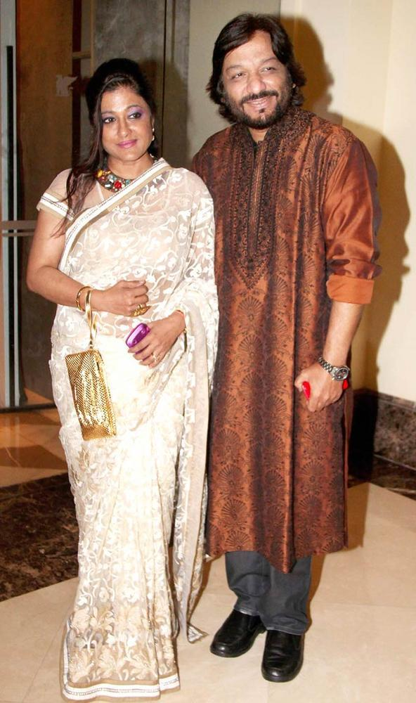 Roop Kumar And Wife Sonali Clicked During Shashi And Anu Ranjans 25th Anniversary Bash