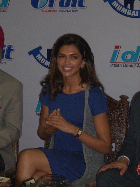 Deepika Padukone Smiles At World Dental Show Event