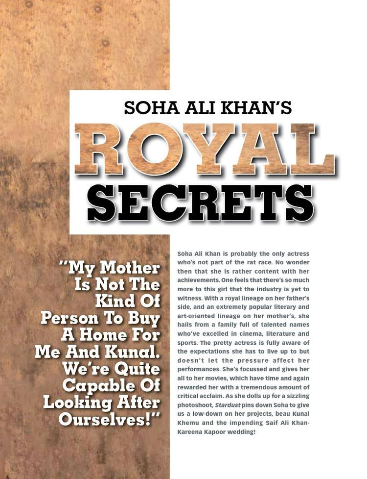 An Article Was Published In Magazine About Soha Ali Khan