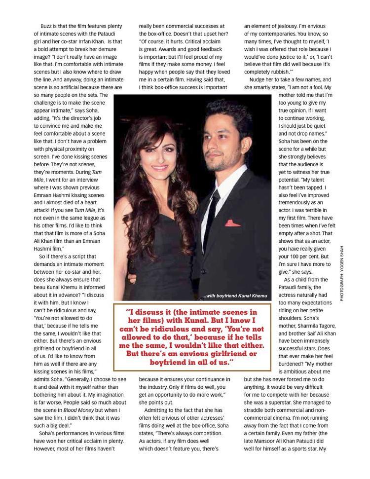 Soha Ali Khan And Kunal Khemu Magazine Still
