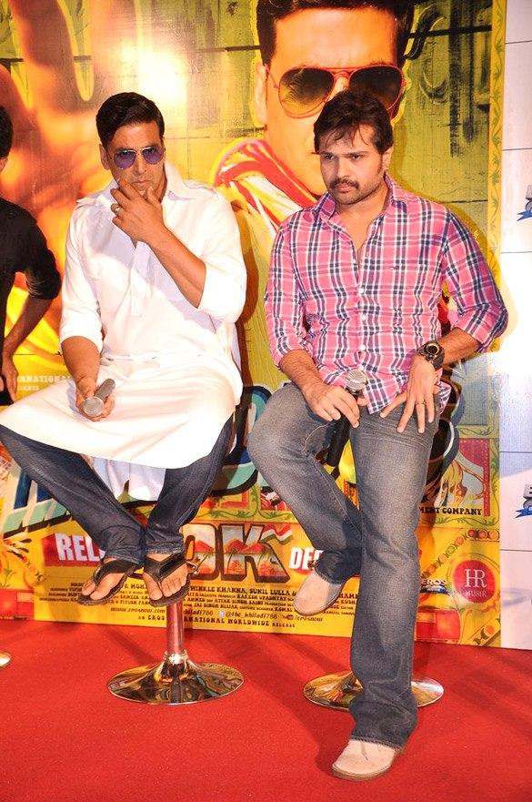 Akshay And Himesh At Launcing Event Of Khiladi 786 Promo Still