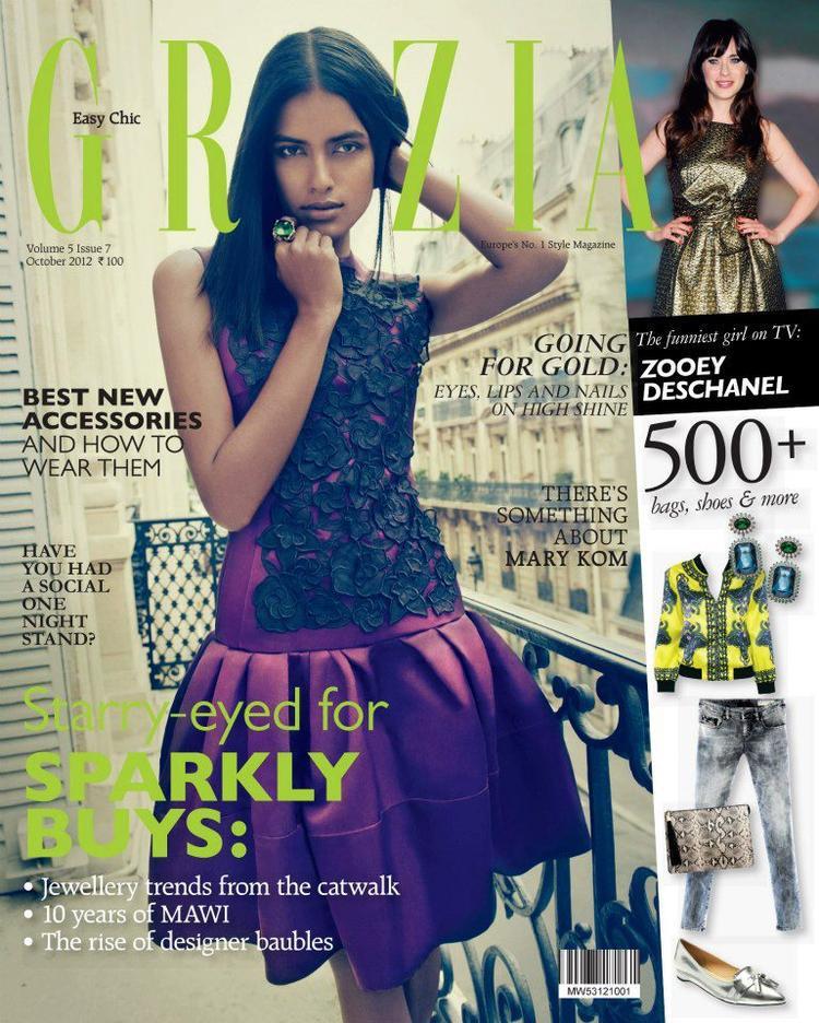 Lakshmi Menon On The Cover Of Grazia October 2012