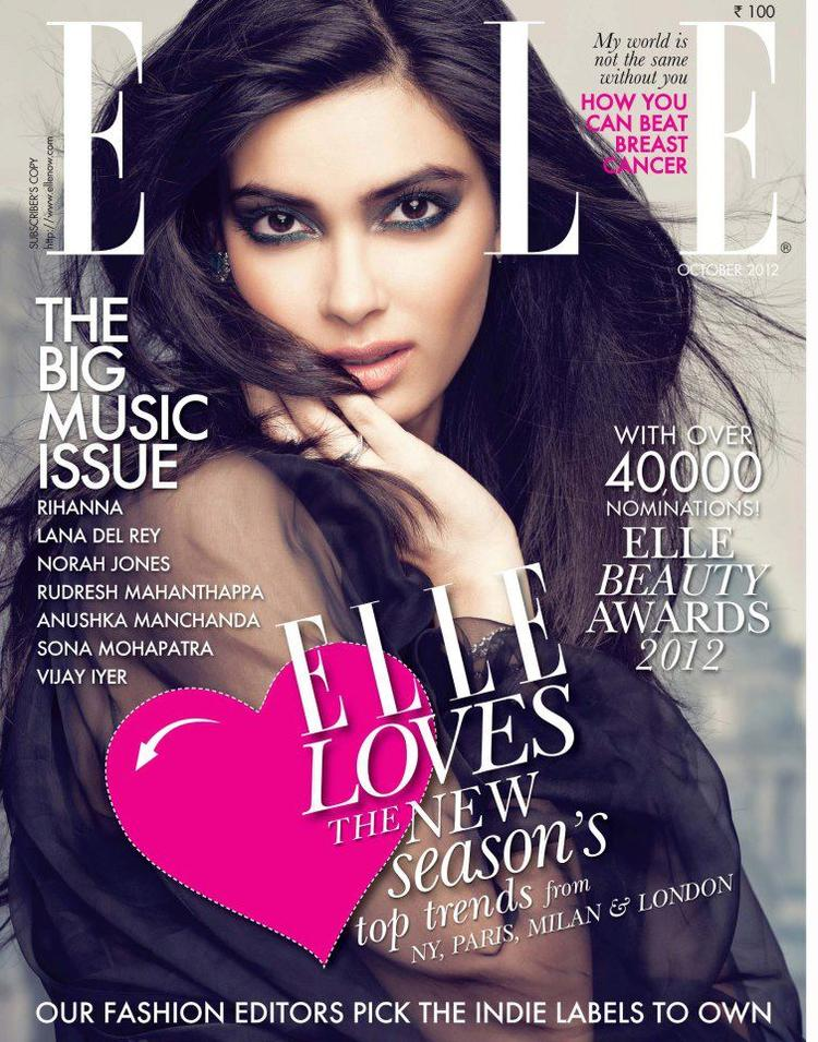 Diana Penty Is Featured On The Cover Page Of Elle India 2012