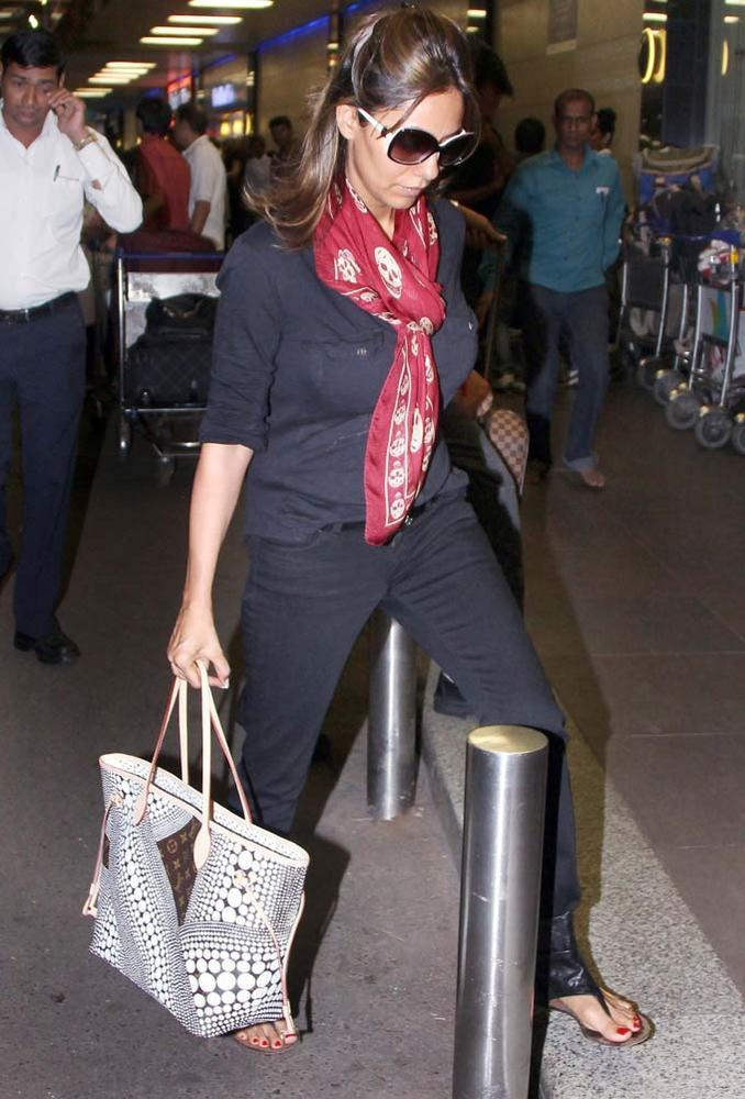 Gauri Spotted at The Airport