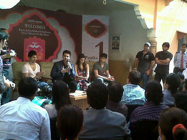 Student Of The Year Cast In Jaipur For Their Upcoming Film Promotion