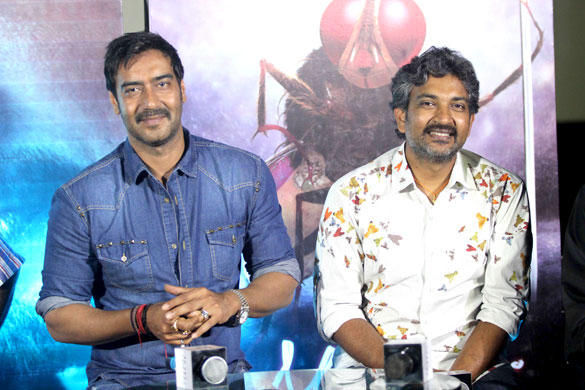 Ajay And S.S. Rajamouli Spotted At The Special Screening Of Makkhi