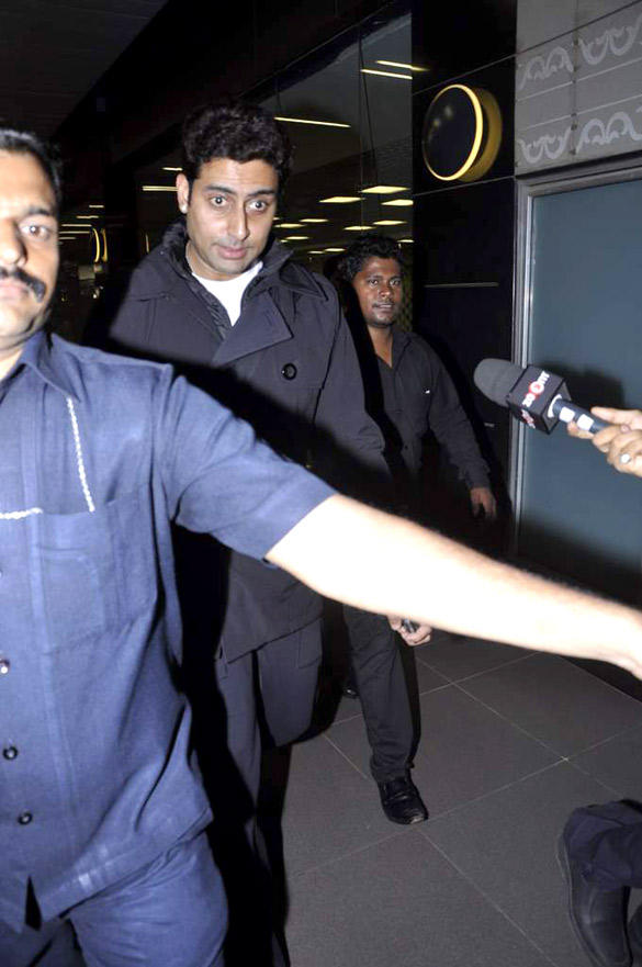 Abhishek Bachchan At Mumbai International Airport