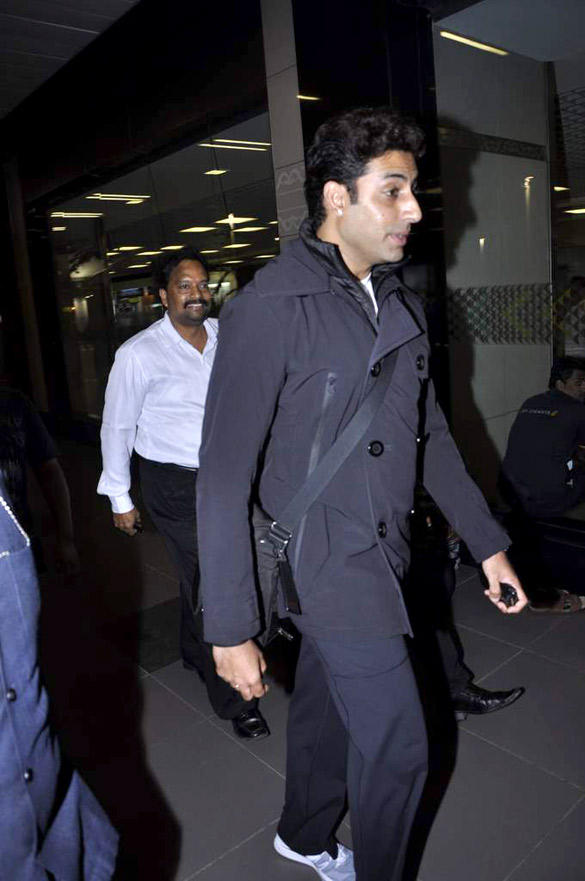 Abhishek Bachchan Spotted At Mumbai Airport