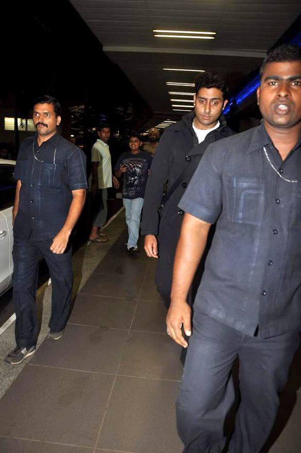 Abhishek Spotted At Airport After Returning From Chicago