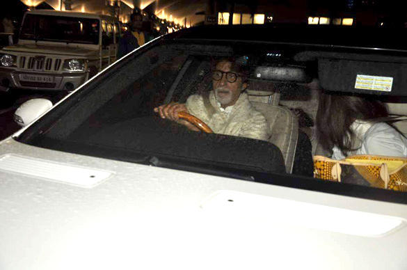 Amitabh Bachchan In A Car