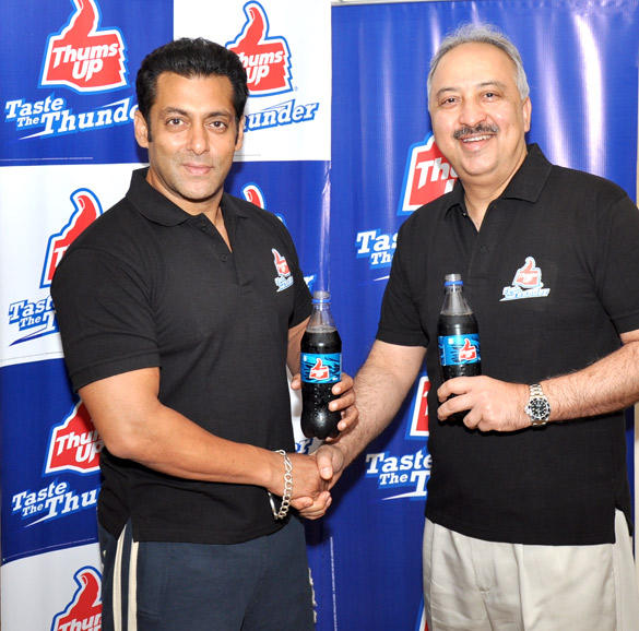 Salman Khan Signed As The New Brand Ambassador Of Thums Up By Coca-Cola India Pvt Ltd
