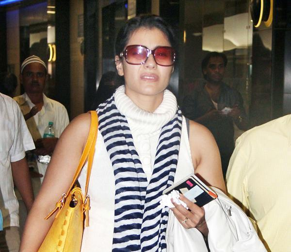 Kajol Devgan Spotted At Mumbai International Airport