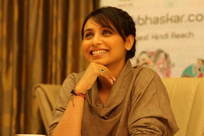 Rani Mukherjee Spotted At Dainik Bhaskar Office