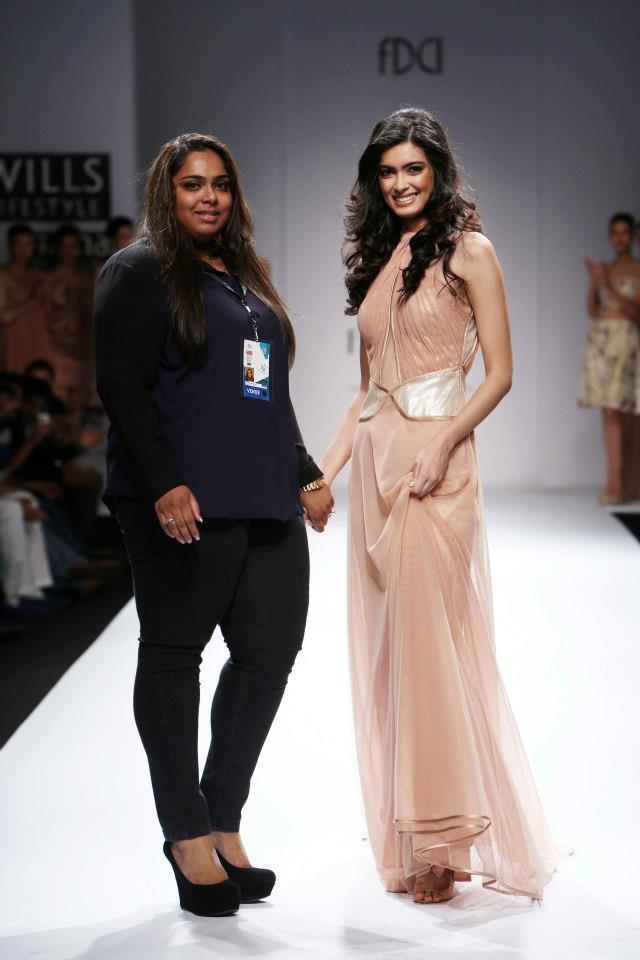 Diana Penty With Sakshee Pradhan At Wills Lifestyle India Fashion Week 2012
