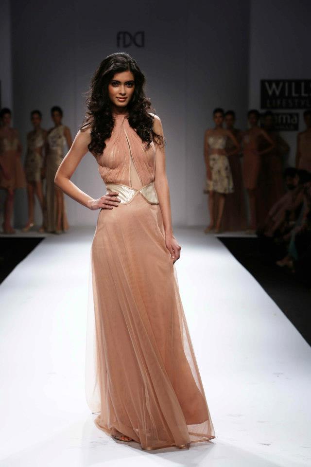 Diana Penty On Wills Lifestyle India Fashion Week 2012 Ramp Show