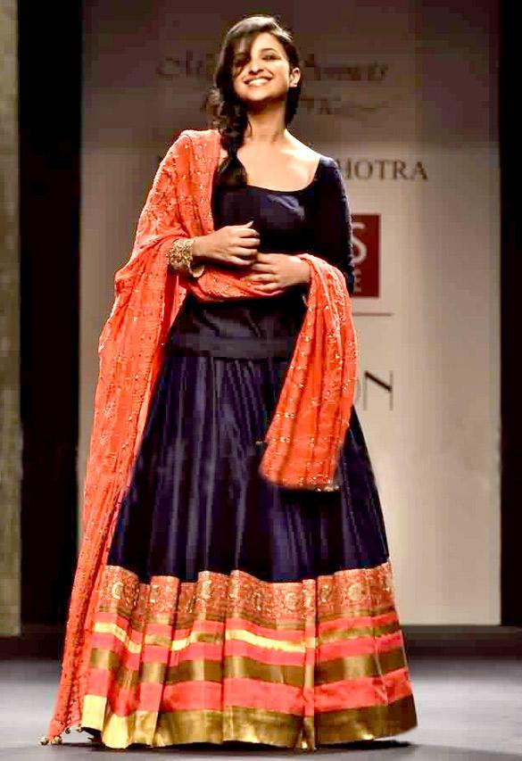 Parineeti Chopra Smiling On The WIFW Ramp Show