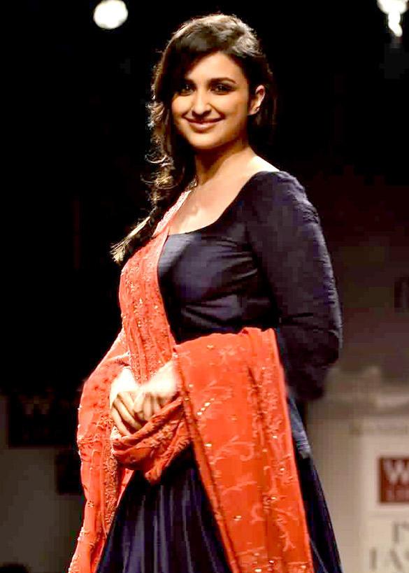 Parineeti Chopra On Wills Lifestyle India Fashion Week 2012 Ramp Show