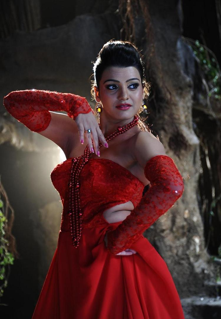 Tashu Kaushik Bold In Red Dress Pic