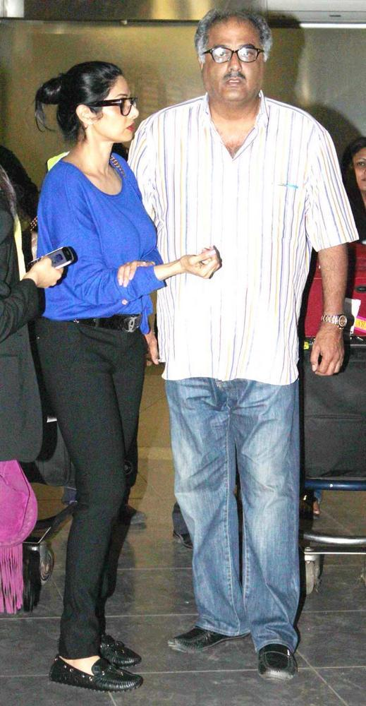 Sridevi And Her Husband Boney At Airport